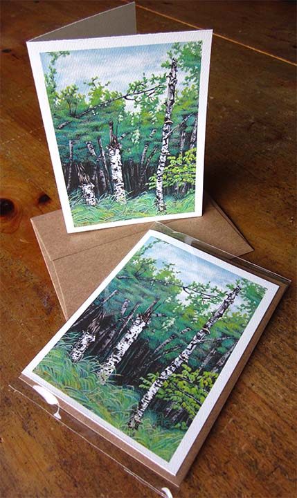 Summer card II: Birches